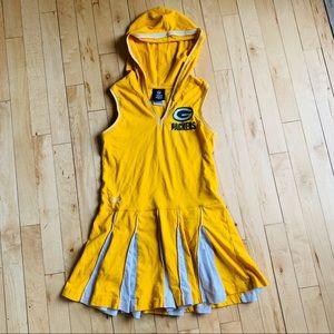 Green Bay Packers Hooded Cheerleader Dress Medium
